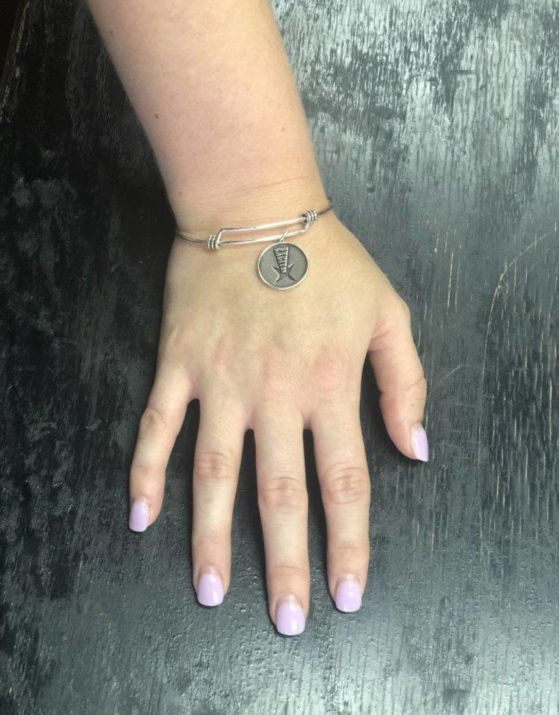 Logo Charm Bangle Bracelet