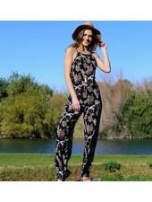 Angie HighNeck V-Back Woven Jumpsuit (B5481)