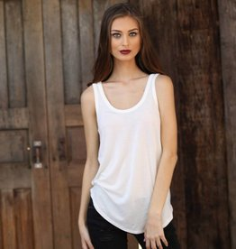 Angie Knit Tank Scoop Neck With Rounded Hem (X2M71)