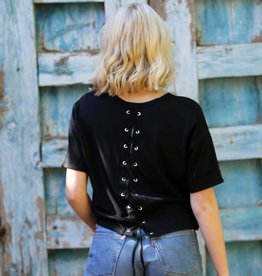 Angie Lace Up Back T Shirt (X2T57)