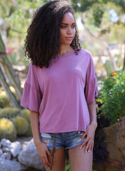 Angie Ruffle Sleeve Top (X2R96)