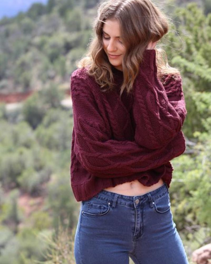 Angie Cable Knit Pullover (XHC43)