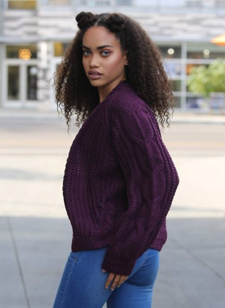 Angie Cable Knit Cardigan (XHC45)