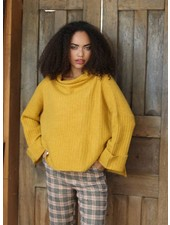 Angie Rib Knit Pullover with Cuffs (XHD22)