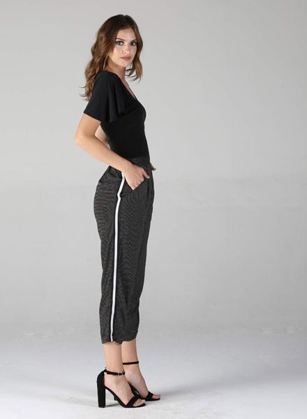 Angie Tapered Twill Pants (25Q08)