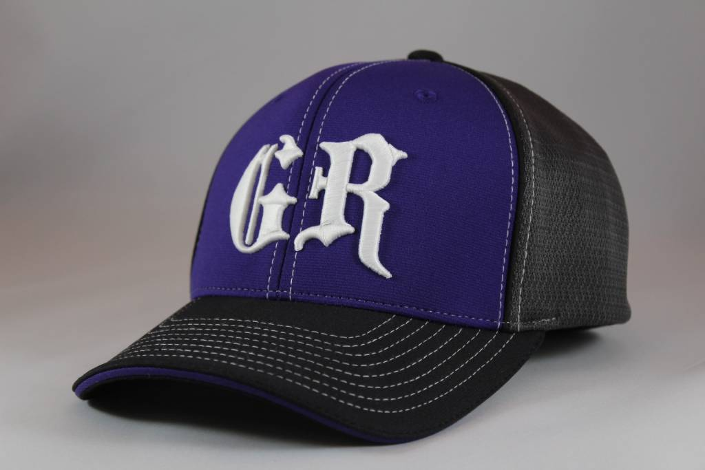 Black and Purple GR Fitted Hat