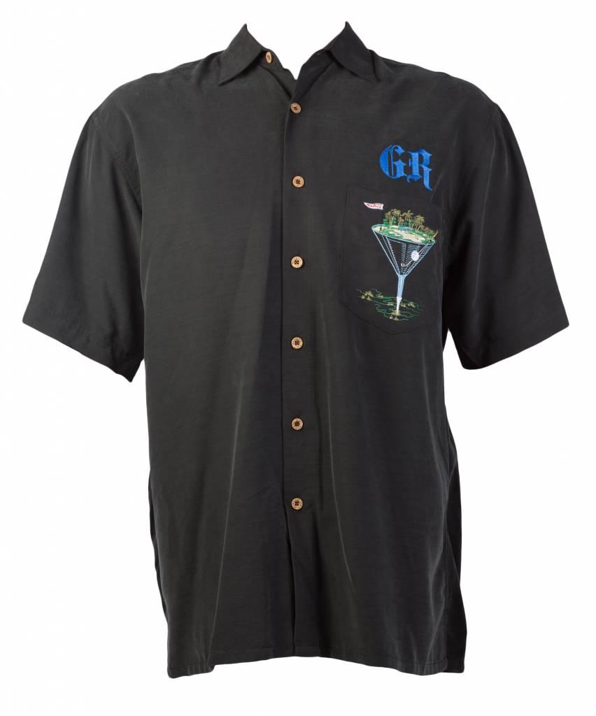 Black Golf Themed Resort Shirt