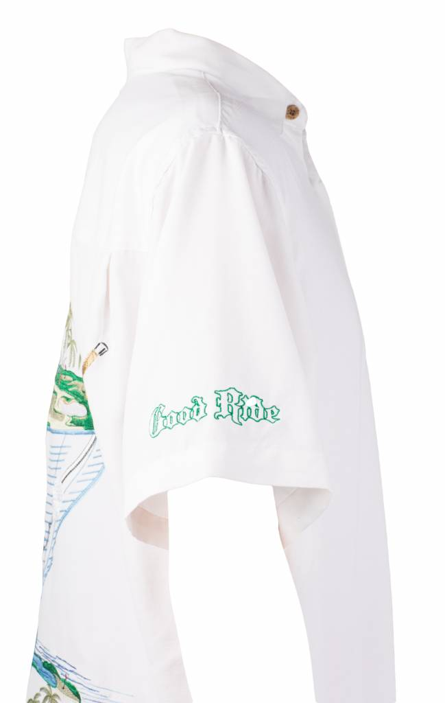 White Golf Themed Resort Short
