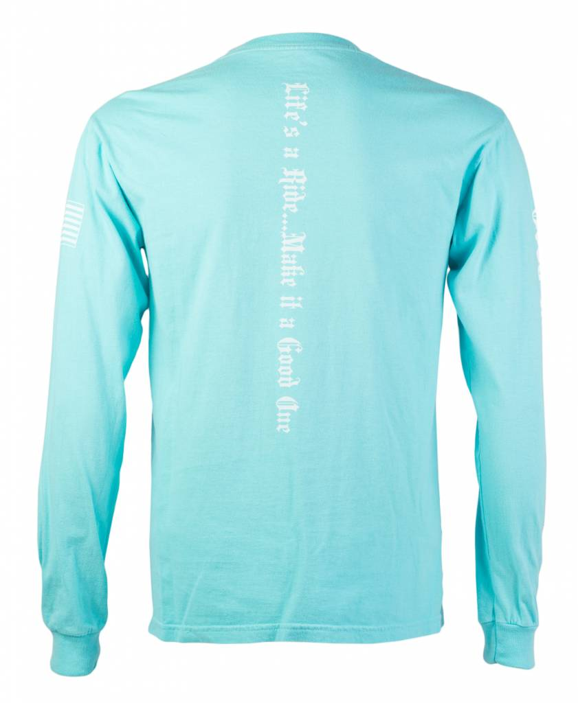 Lagoon Blue Men's Long Sleeve T-Shirt
