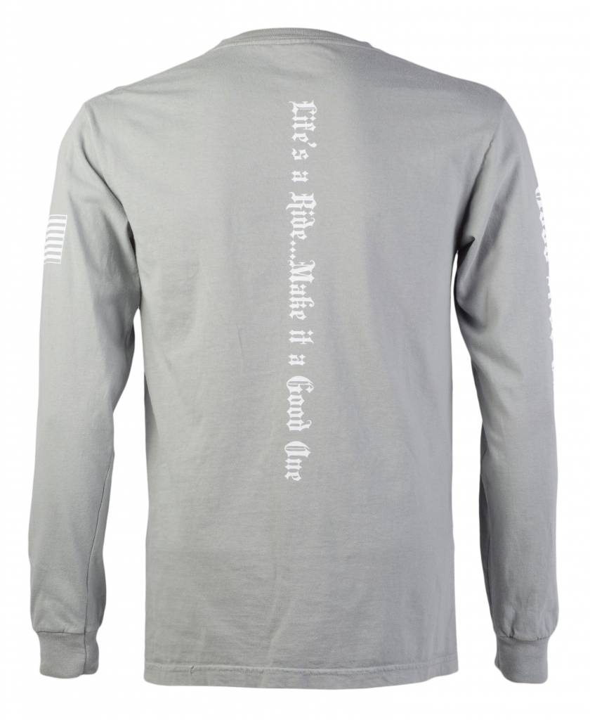 Gray Men's Long Sleeve T-Shirt