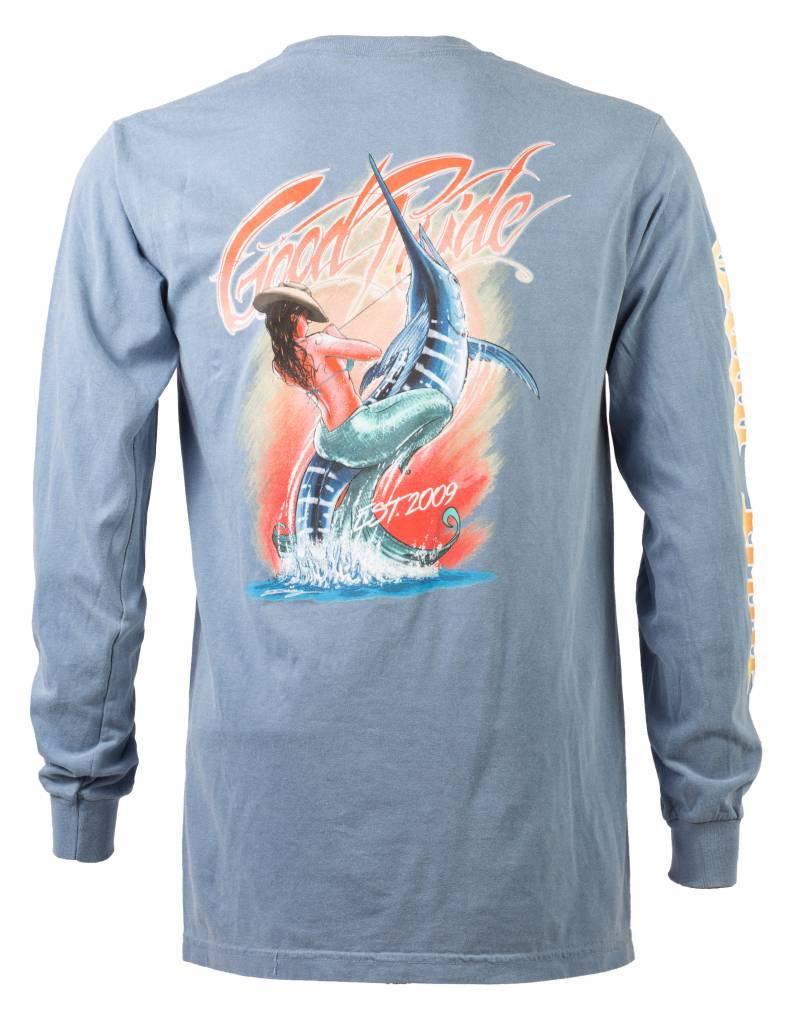 Flo - Blue Swordfish Long Sleeve Shirt