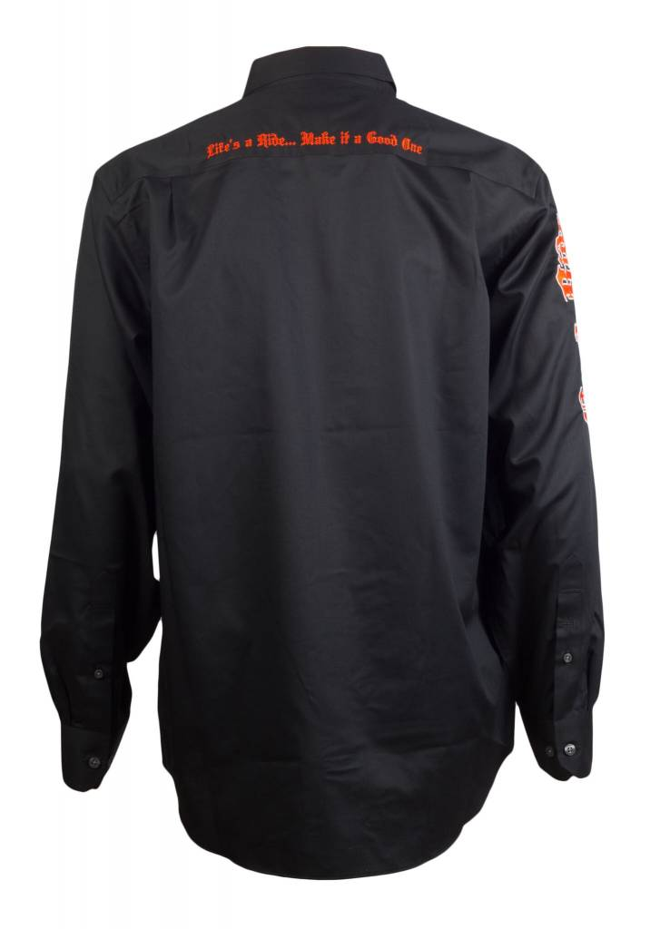 Black and Orange Men's Show Shirt
