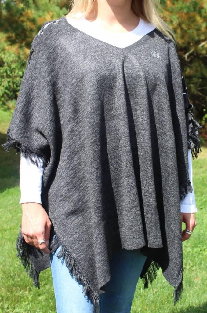 Gray Knit Women's Poncho