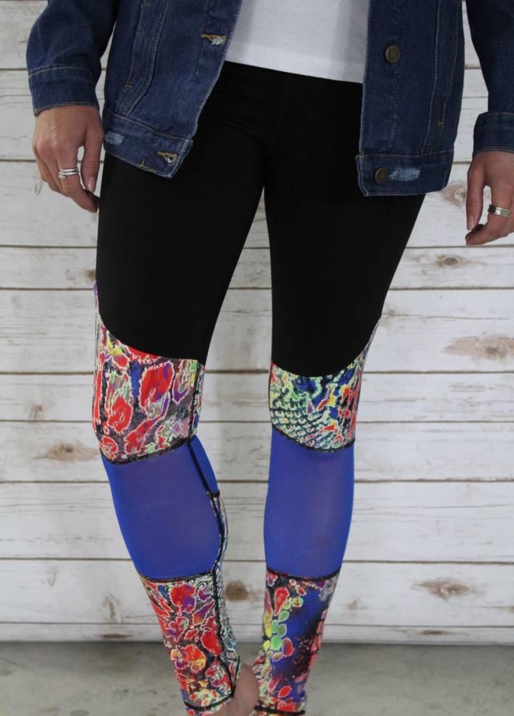 Floral Print  Mesh Legging