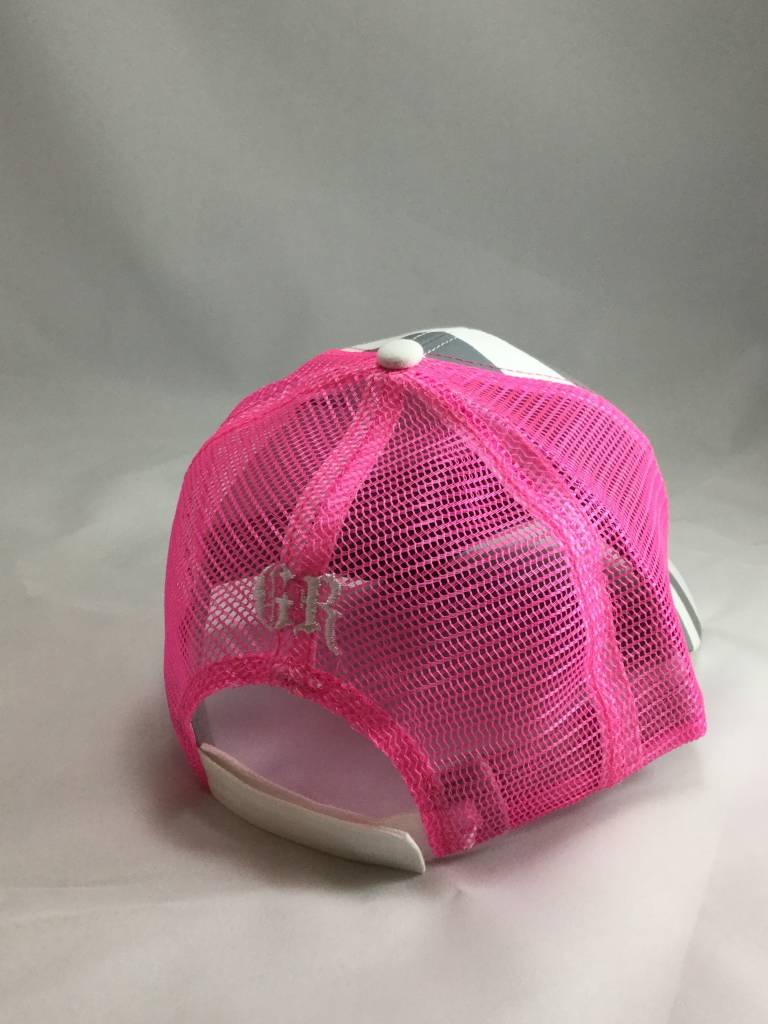 Gray and Pink Women's Hat