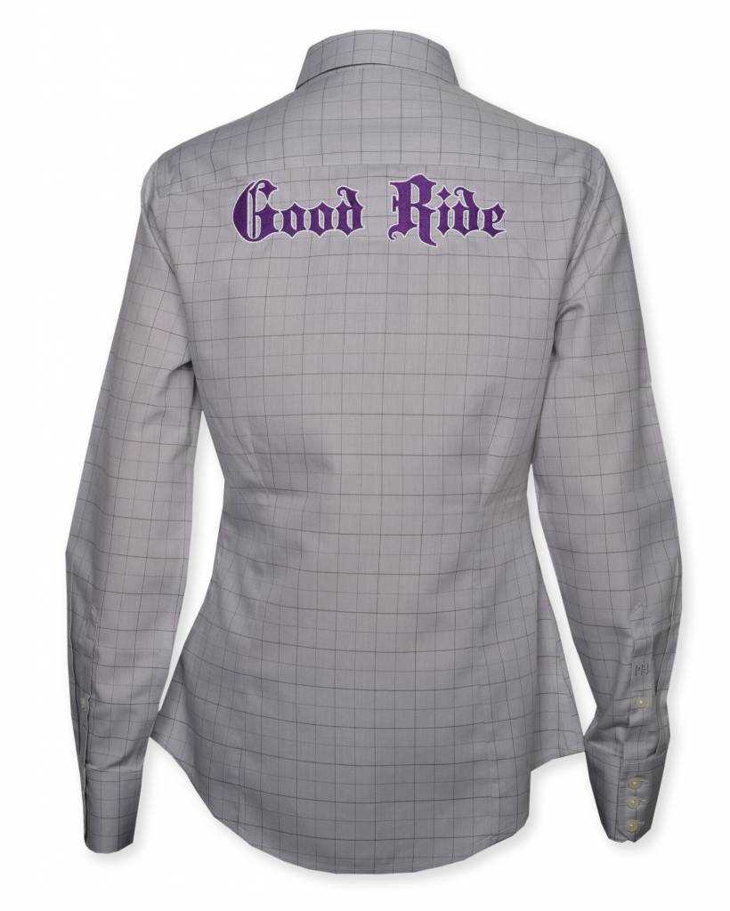 Purple Windowpane  Women's Show Shirt