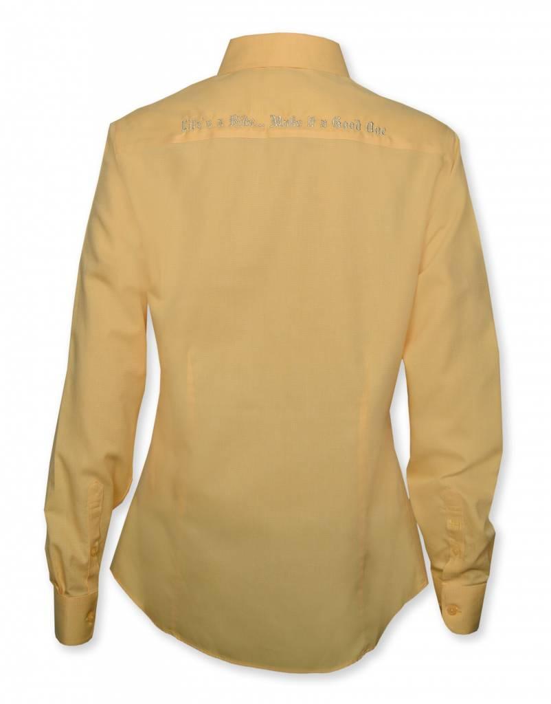 Women's Yellow Crystaled Show Shirt