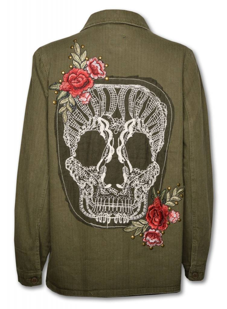 Women's Olive Skull Jacket