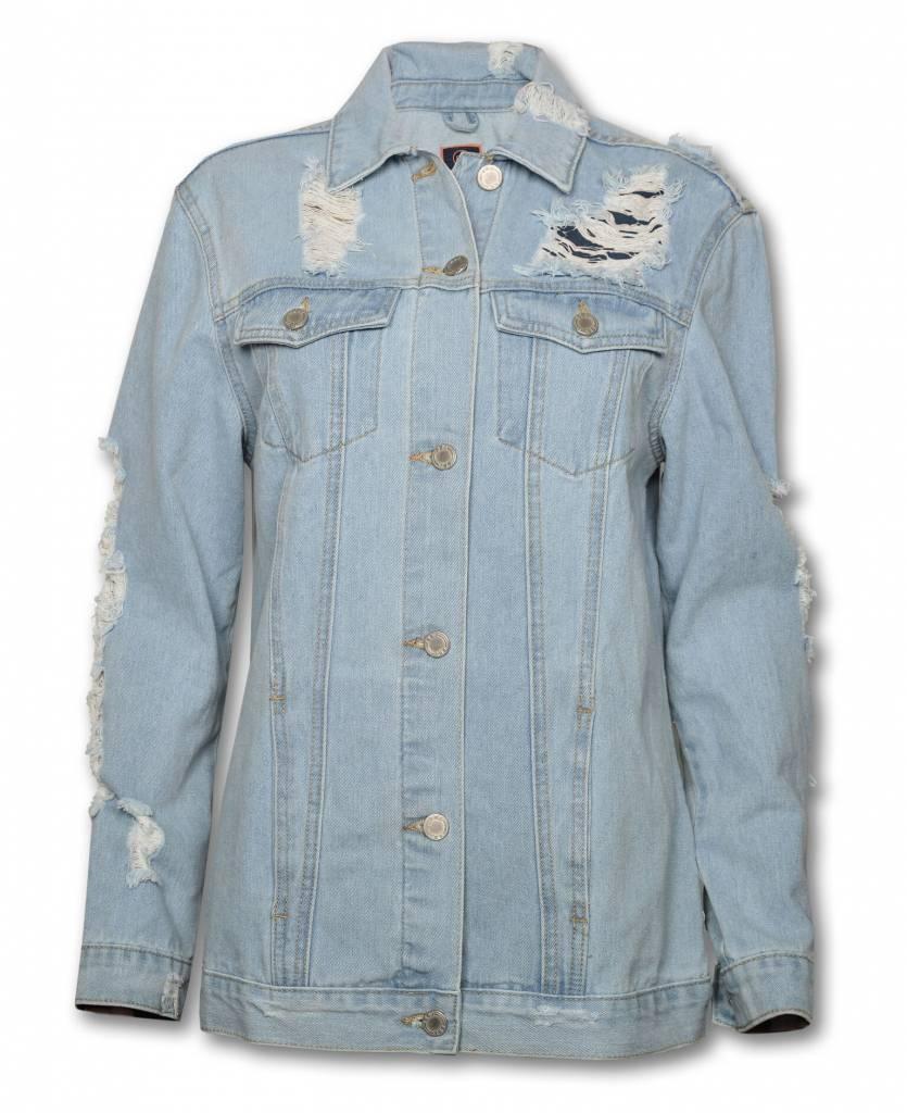 Women's Ripped Denim Jacket