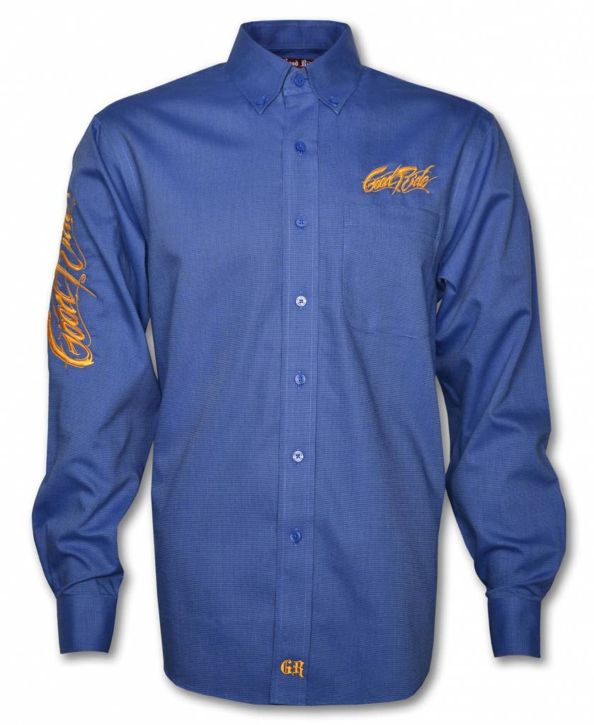 Blue and Yellow Men's Show Shirt