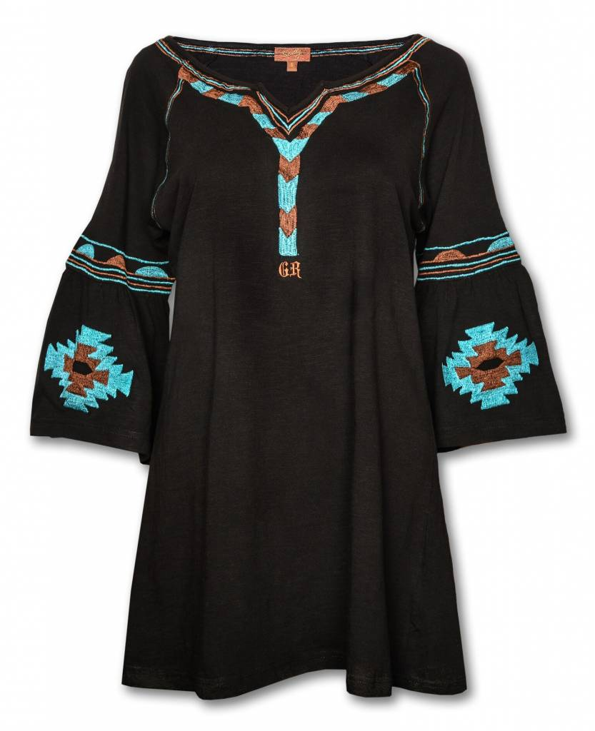 Women's 3/4 Sleeve Aztec Tunic