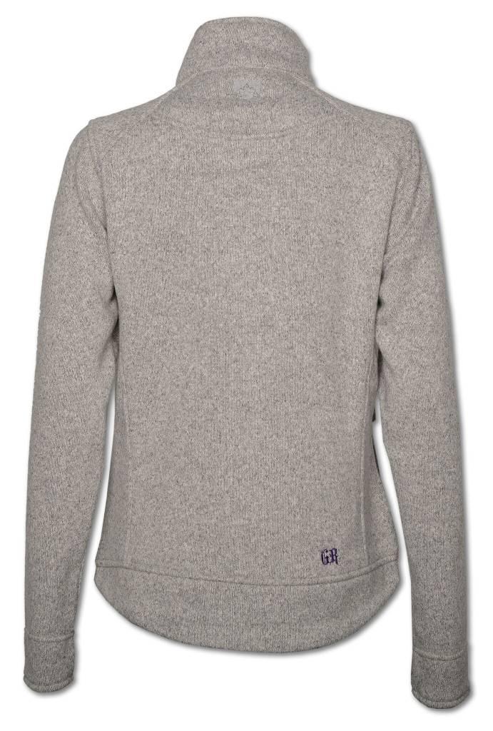 Gray Sweater Fleece Women's Jacket