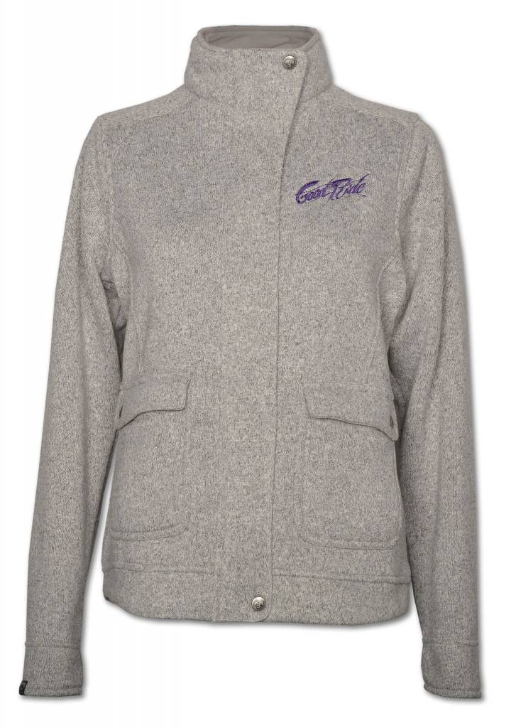 Gray Sweater Fleece Women's Jacket