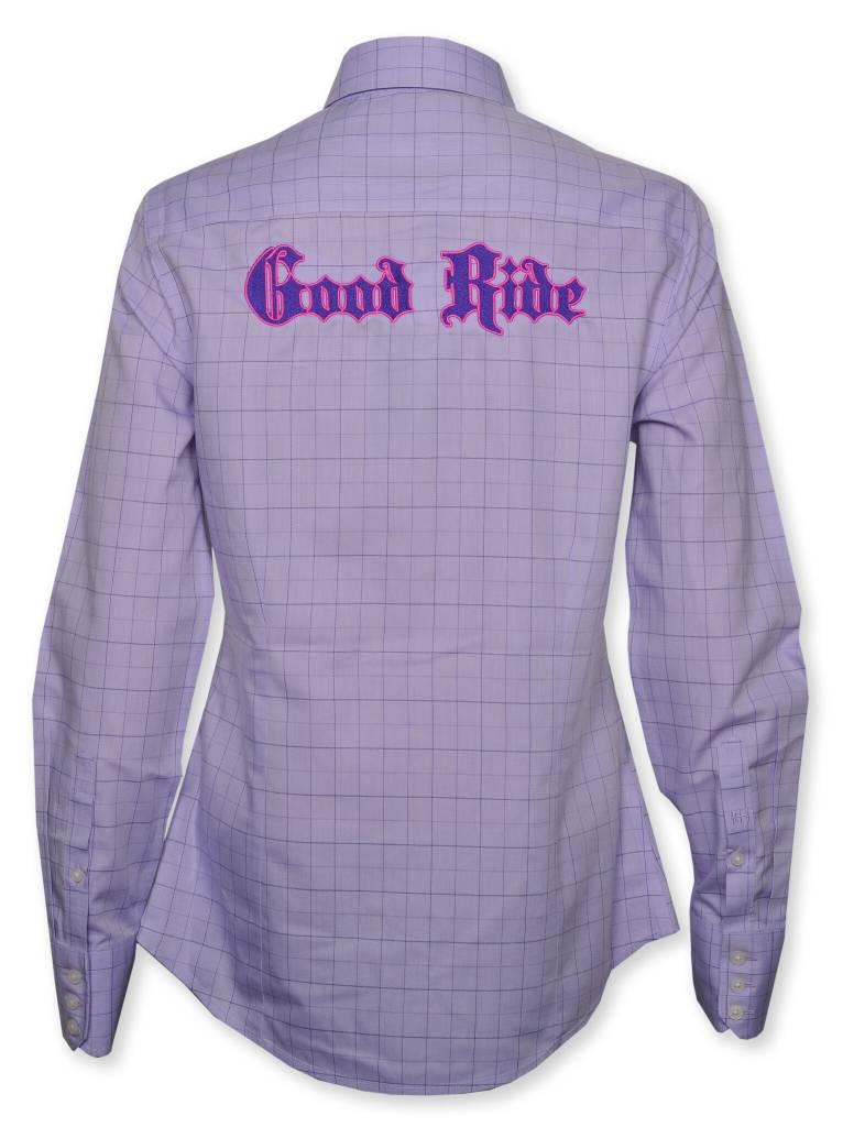 Purple Windowpane Women's Show Shirt