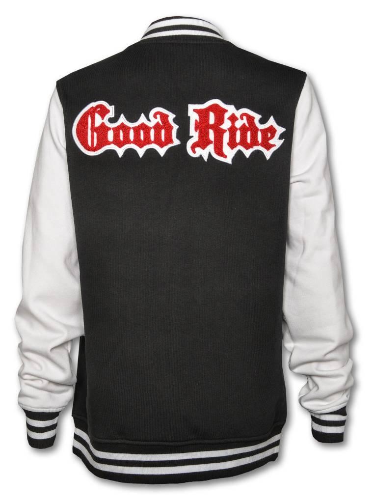 Black and White Women's Varsity Jacket