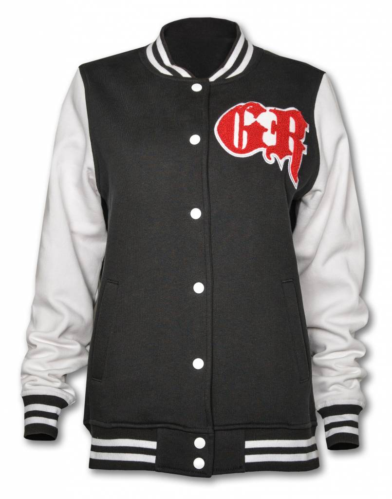 Black and White Women's Varsity Jacket