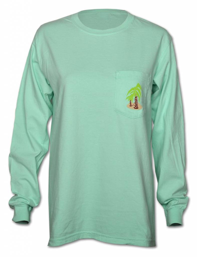 Norman Long Sleeve Teal T - Shirt