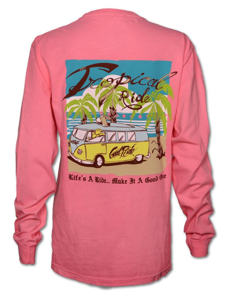Norman Long Sleeve Pink T-Shirt