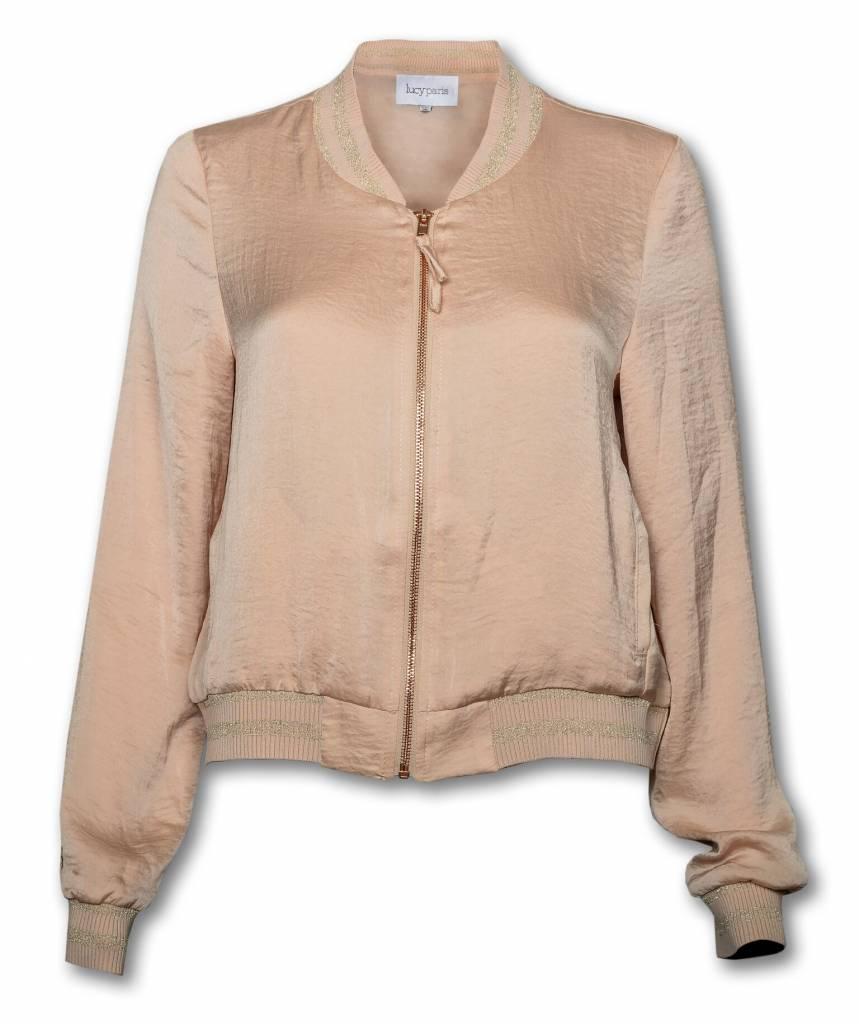 Pink Women's Crystal Silk Jacket