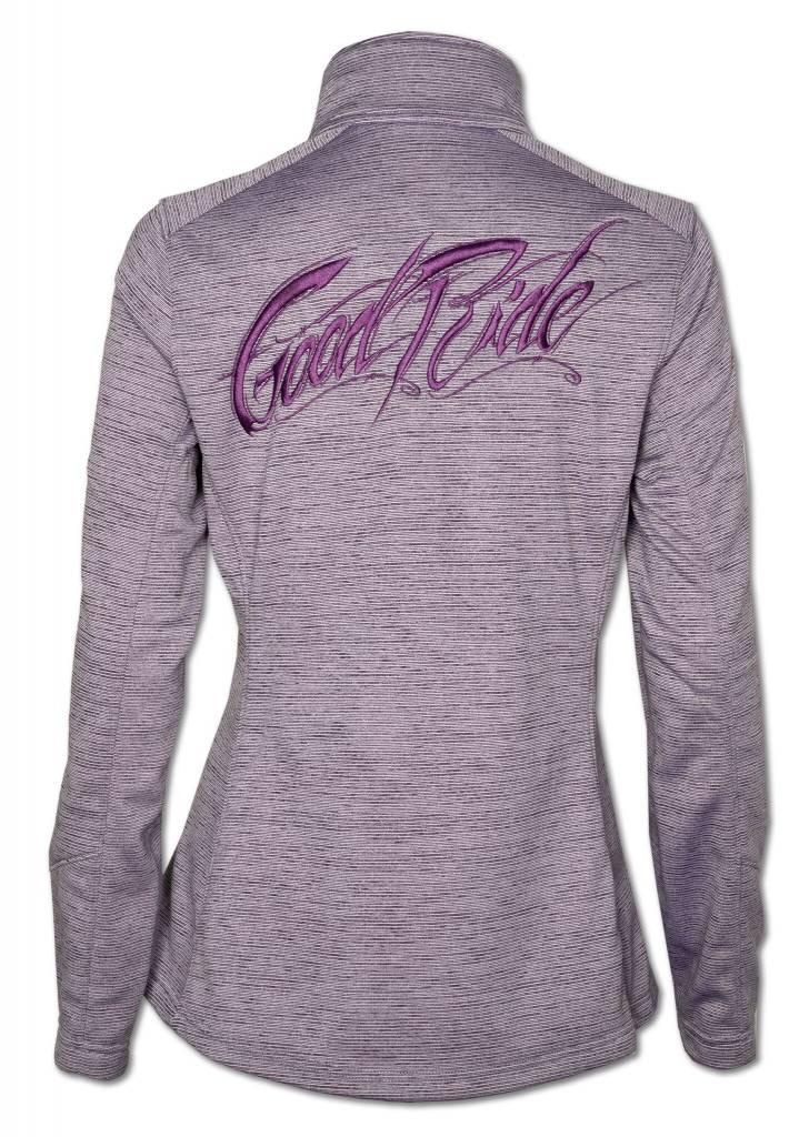 Women's Purple  Stripe Fleece Jacket