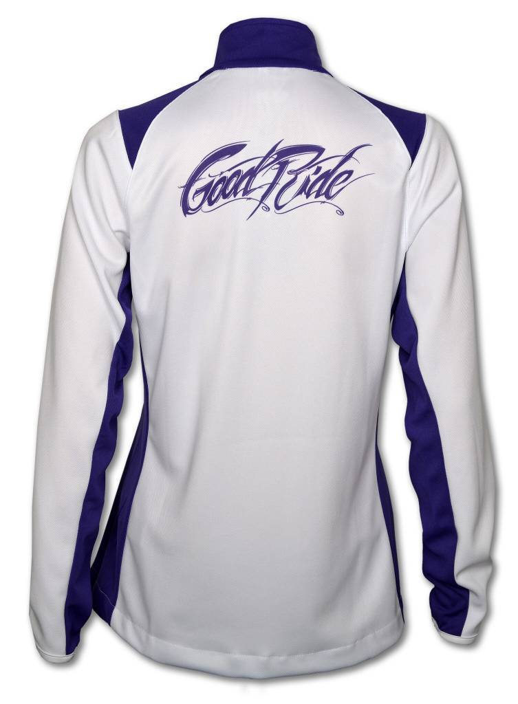 Purple and  White Brush Stroke Full - Zip Women's Jacket