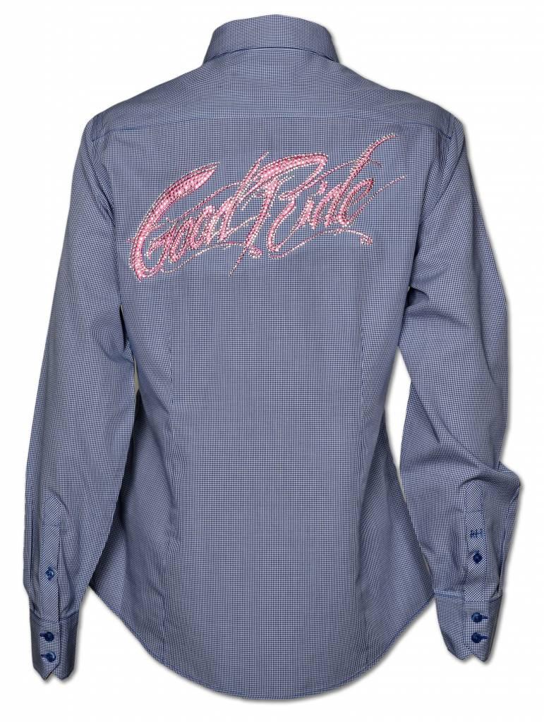 Women's Blue Crystal Show Shirt