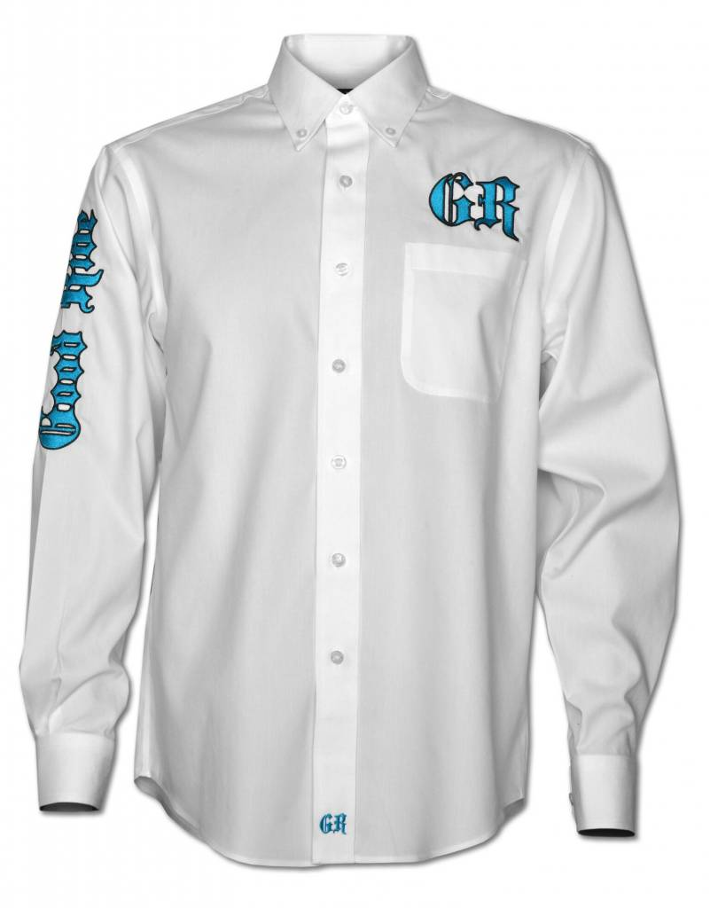 Men's White / Teal Show Shirt