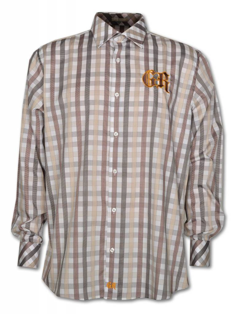 Brown and Tan Men's Show Shirt