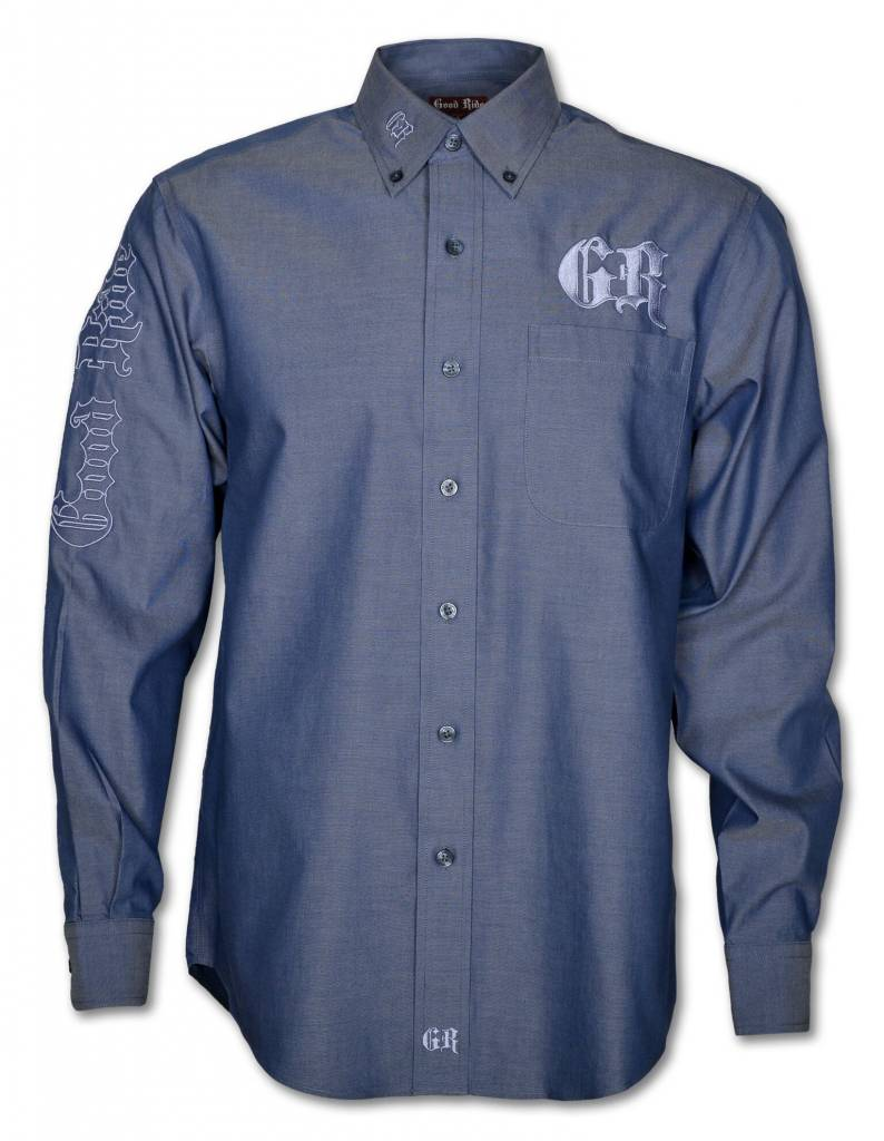 "Men's Blue "" GR"" Show Shirt"