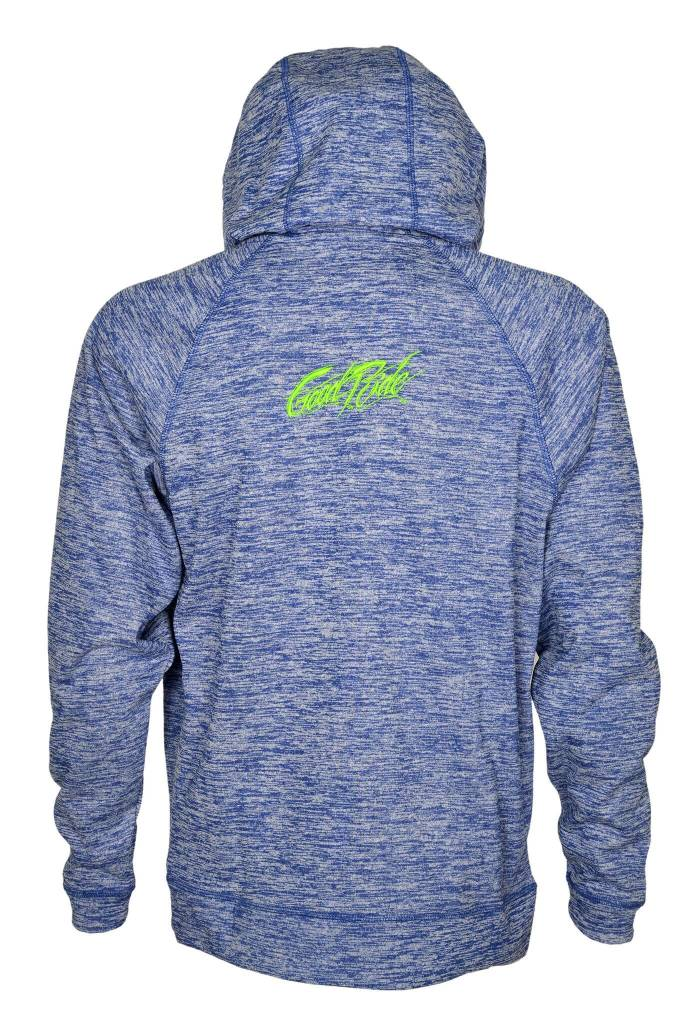 Heather Blue and Green Hoodie