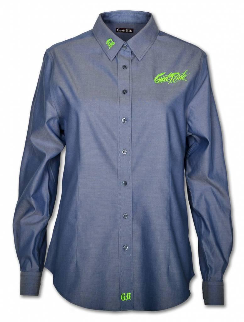 Women's Show Shirt- Blue/Green