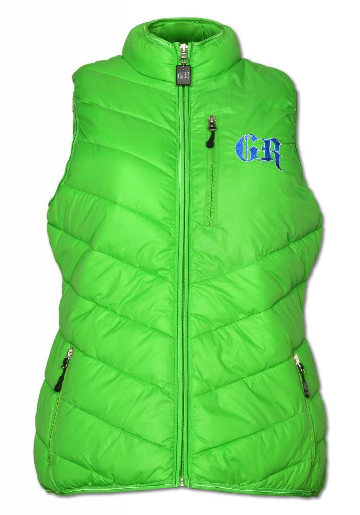 Women's PUFFY Lime Green / Blue Vest