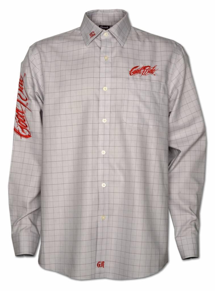 Dove Gray and Red Windowpane Men's Show Shirt
