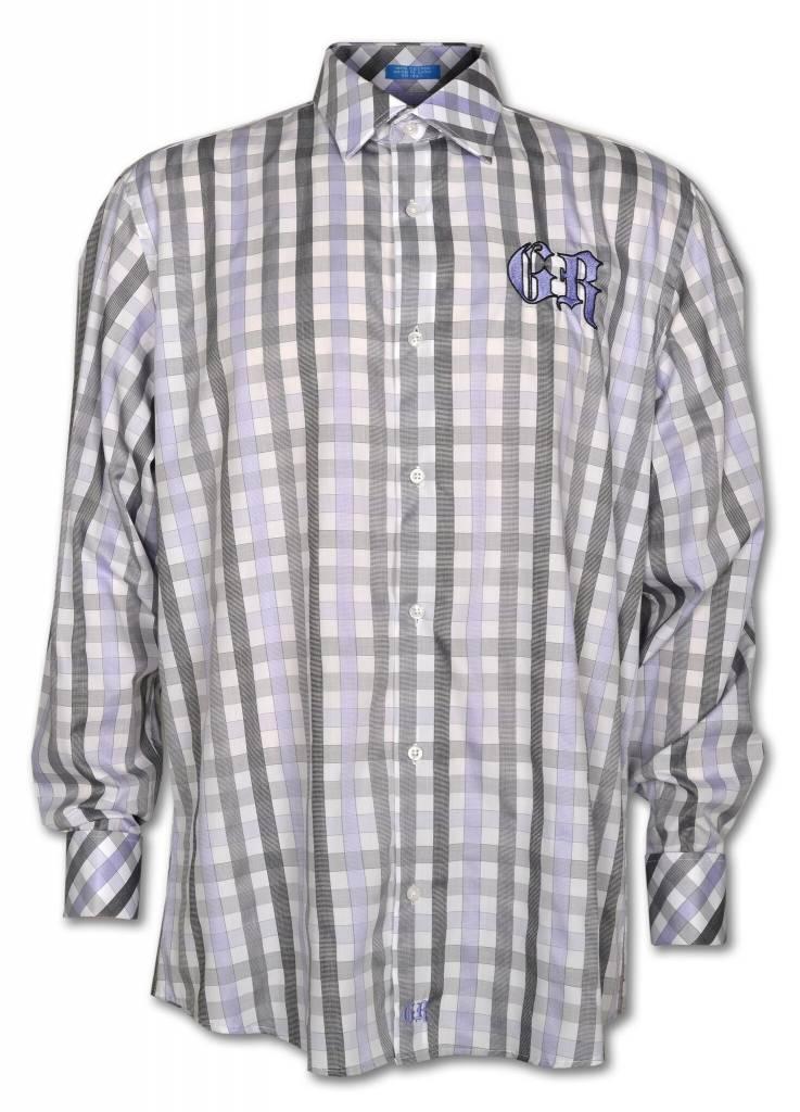 Men's Gray and Light Purple Show Shirt
