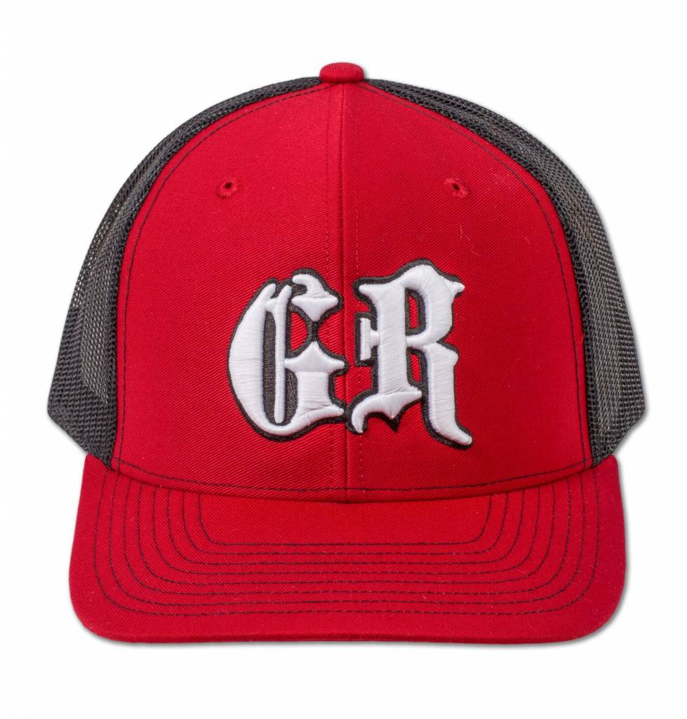 Black and Red GR Fitted Hat