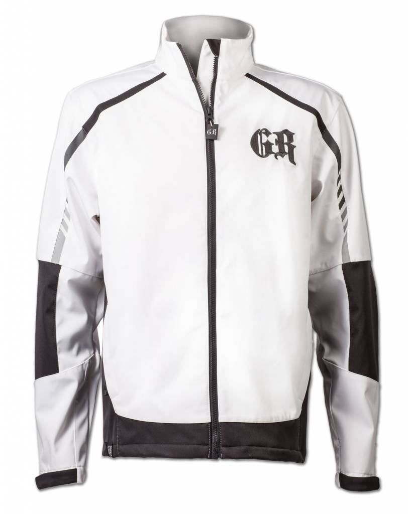 White and Black Softshell Jacket