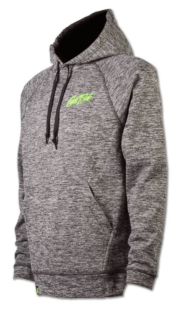 Heather Gray and Green Hoodie