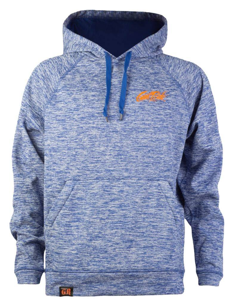 Heather Blue and Orange  Hoodie