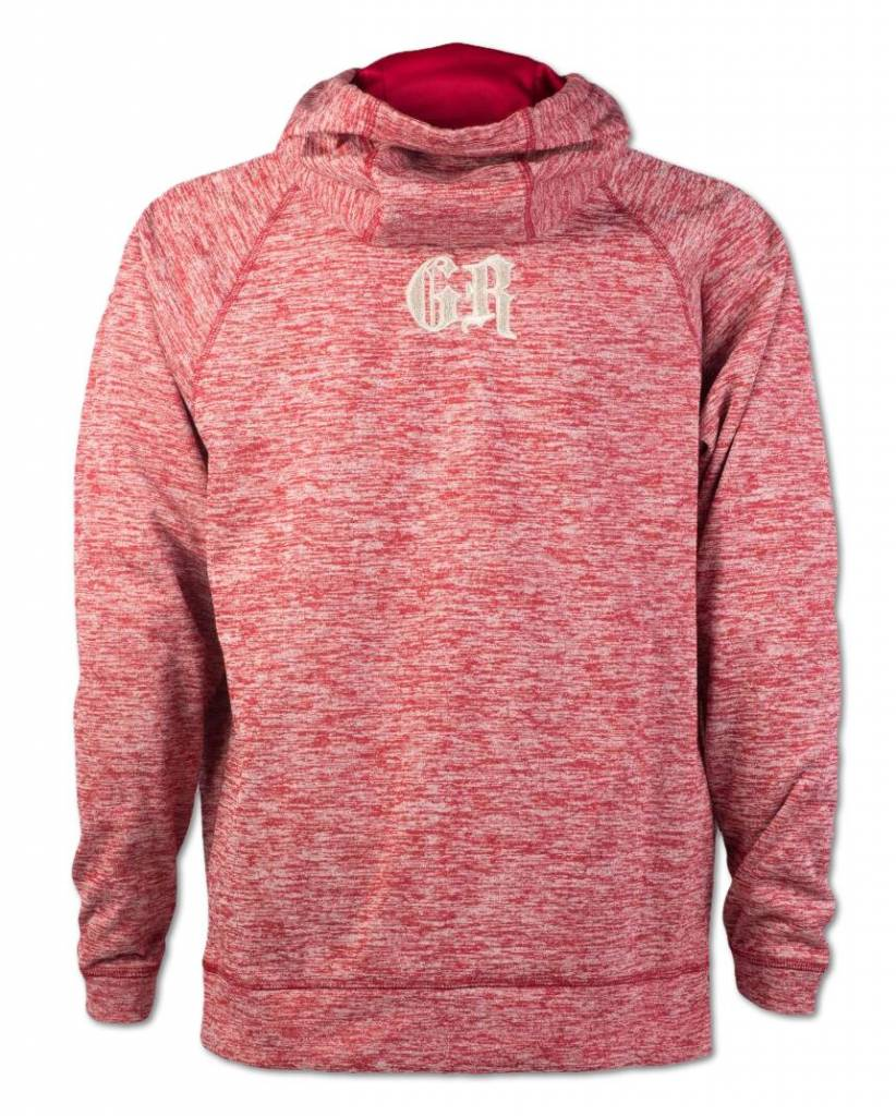 Heather Red and Silver  Hoodie