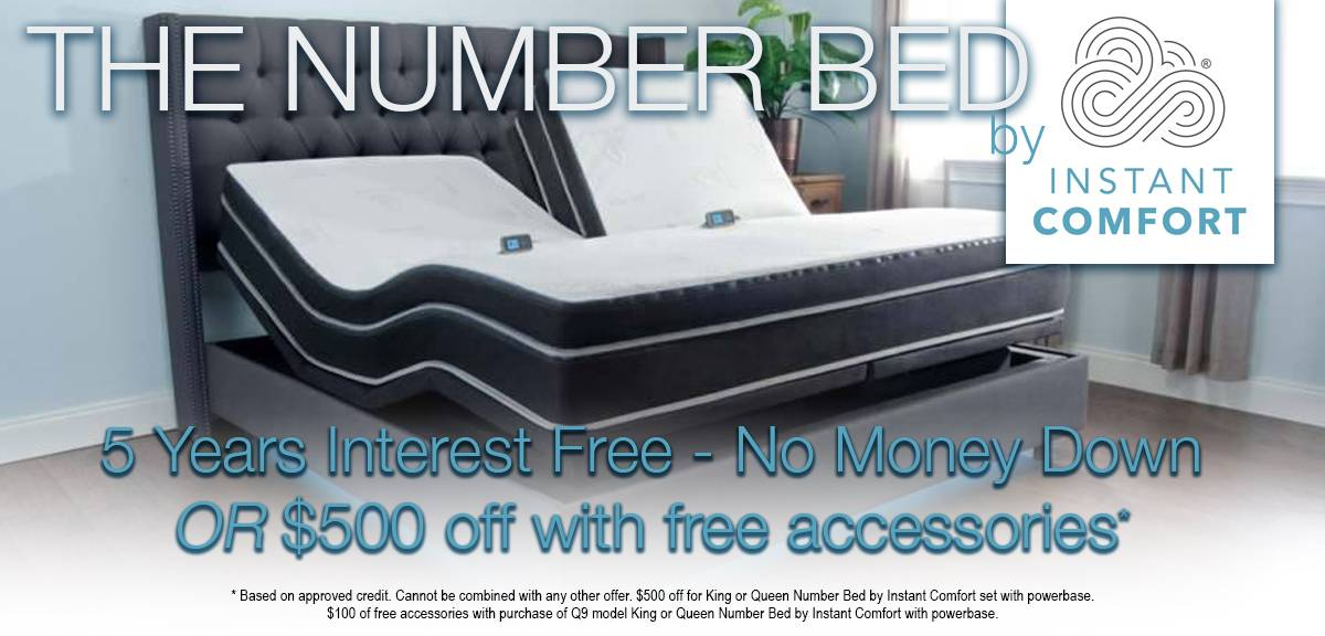 The Number Bed by Instant Comfort